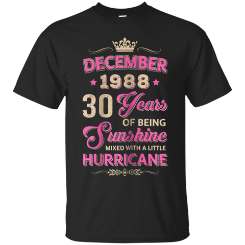 Womens 30Th Birthday Gifts December 1988 Of Being Sunshine T-Shirt