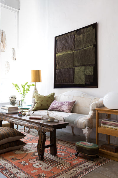 Textile art. Vintage textiles. Interior design. Los Angeles.