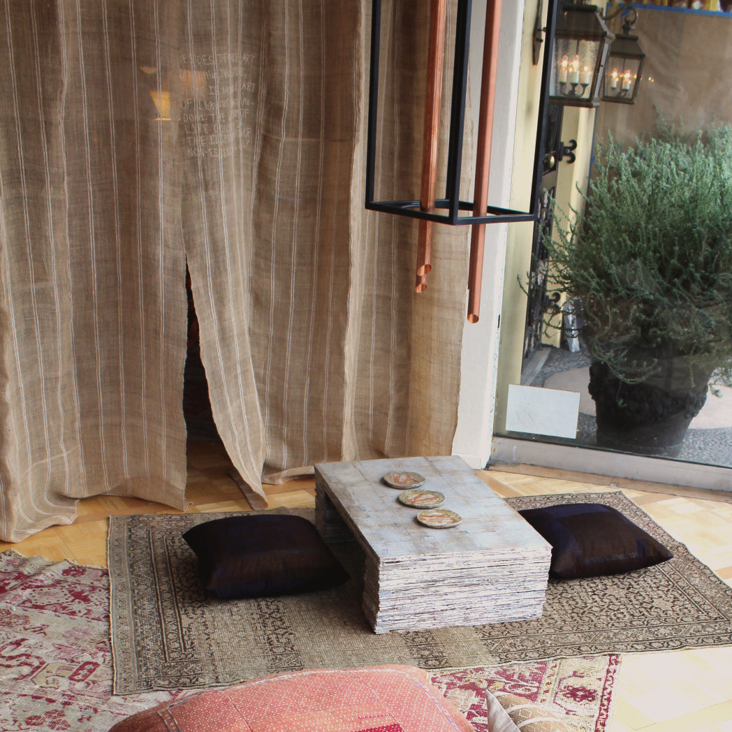 Cardboard furniture Curtain Pillows Textiles Objects for Others Simeona Leona Chimes