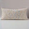 Dowry Pillow Collection - Zhuang Cream Tan and Indigo