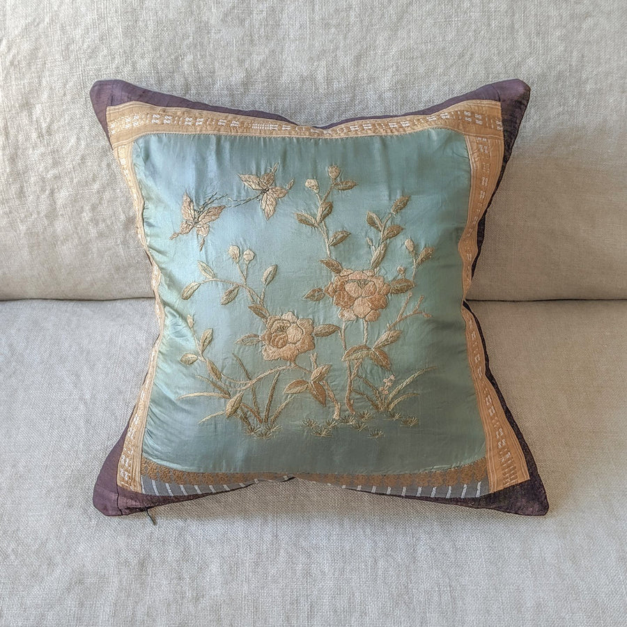 Nishi Pillow --Pale Blue Green