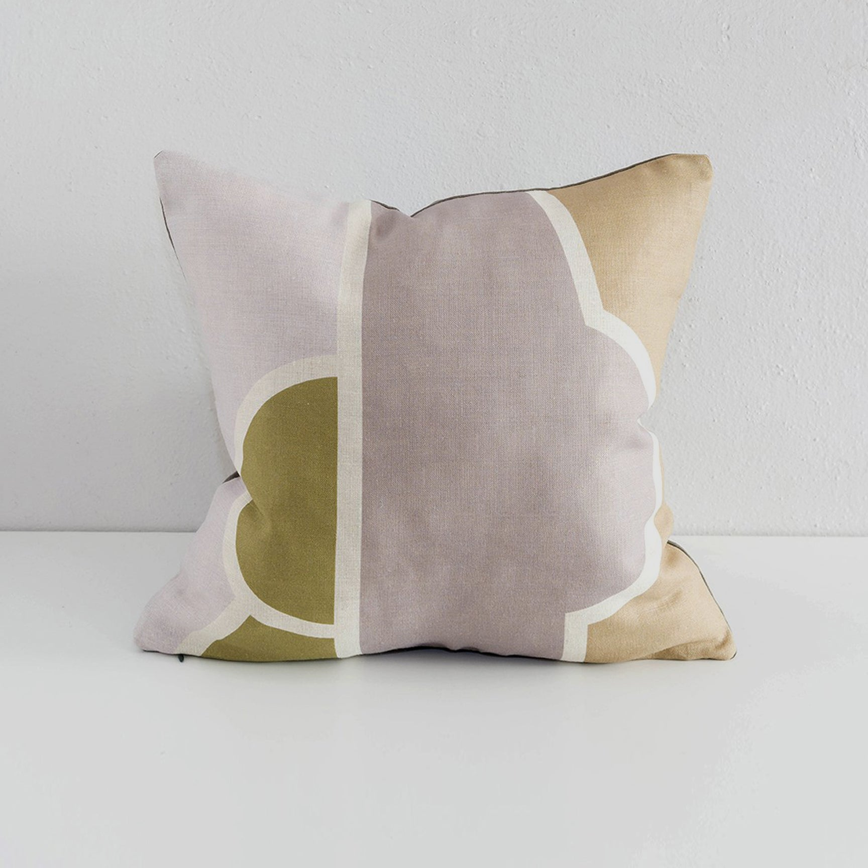 Andreas Collection Theophanes Pillow - Mauve, Olive, Gray and Tan