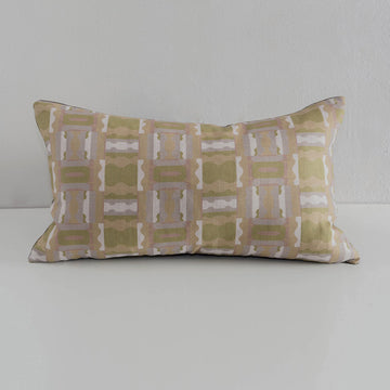 Andreas Collection, Fotios Pillow -- Olive, Gray, Tan and Salmon