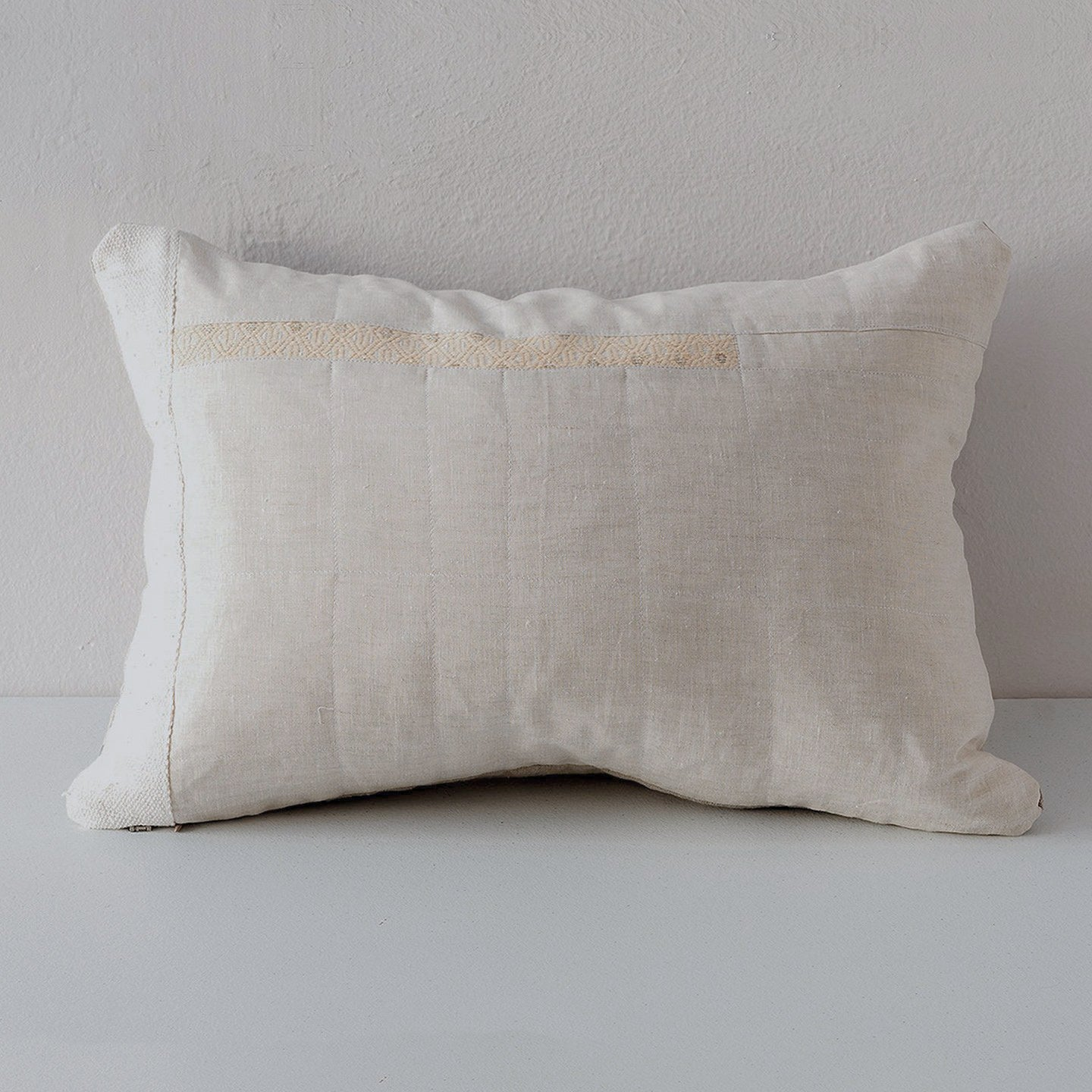 Piecework Textile Pillow with Mud Cloth
