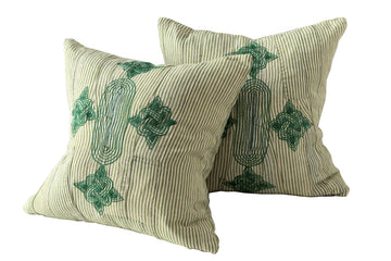 Grand Boubou Collection Pillow in Greens I