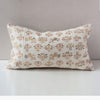 Dowry Pillow Collection in White Sage Tan and Pink