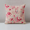Print Collection - Red Periwinkle Tan and Pink Pillow Set
