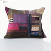 Piecework Textile Pillow - Purple Red Bronze