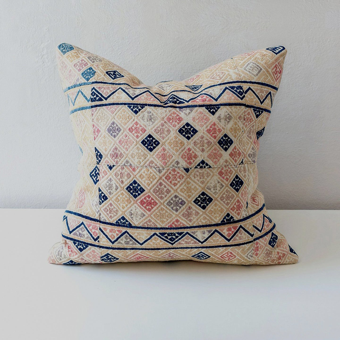 Dowry Pillow Collection Zhuang in Pinks with Indigo