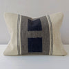 Hand-loomed Collection Double Block Flat-Weave Textile Cushion