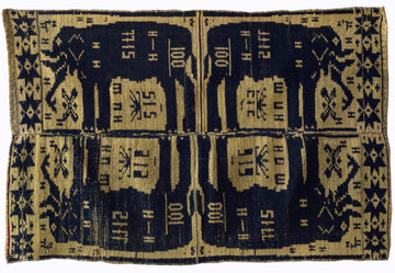 Textile Collection Tai Jay Elephant Textile - Yellow and Black