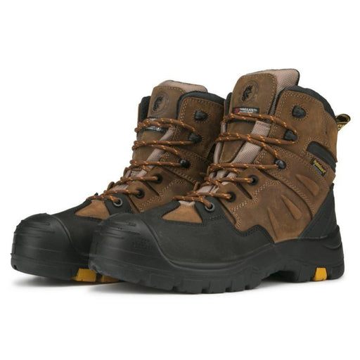Brown 6 inch 400g Insulated Waterproof Safety Toe Leather Work Boots AK669INS - Rock Rooster Footwear Inc
