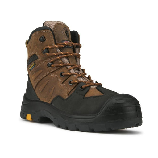 ROCKROOSTER 6 inches Brown Work Boots AK669 - Rock Rooster Footwear Inc