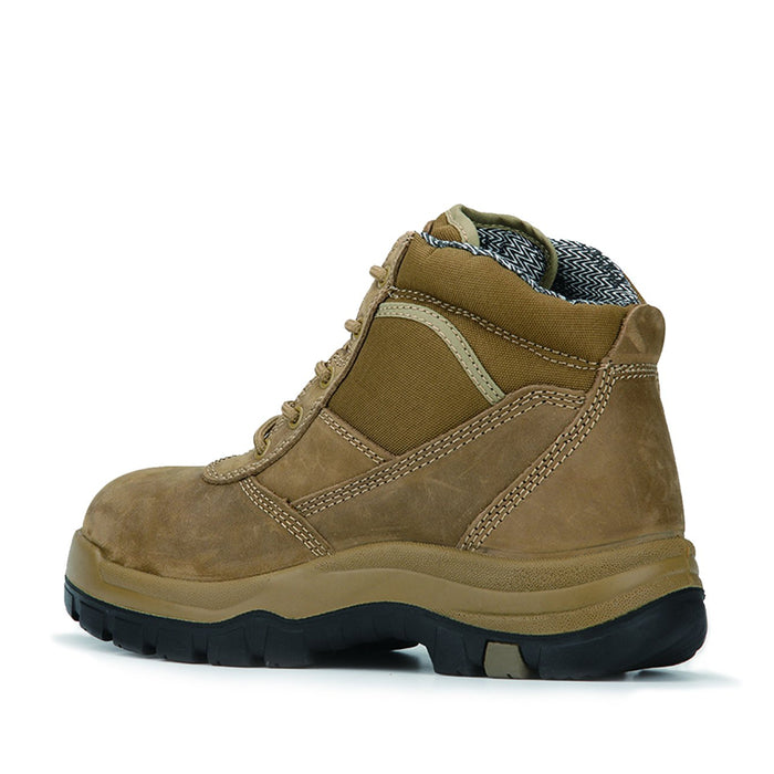 Brown 6 Inch Steel Toe Leather Work Boots AK250