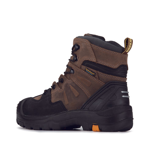 Dark Brown 6 inch 400g Insulated Waterproof Soft Toe Leather Work Boots AK639INS - Rock Rooster Footwear Inc