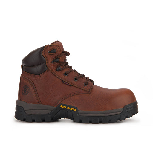 ROCKROOSTER Men's 6 inch Metalfree Work Boots,Composite Toe,Waterproof, Electrical Shock Protection, Anti Puncture, X-Wide (AT-697 PRO Brown,Chester)-2