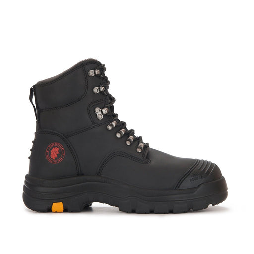 ROCKROOSTER Men's Work Boots, Steel Toe, Antistatic, Safety Leather Shoes, Water Resistant, Rubber outsole AK245 Knox