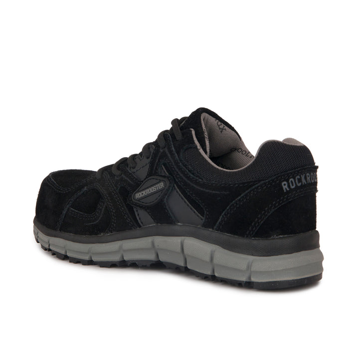 ROCKROOSTER Leather Work shoes, Water Resistant,  Alloy toe, Slip Resistant, ASTM 2413 AS011BK - Rock Rooster Footwear Inc