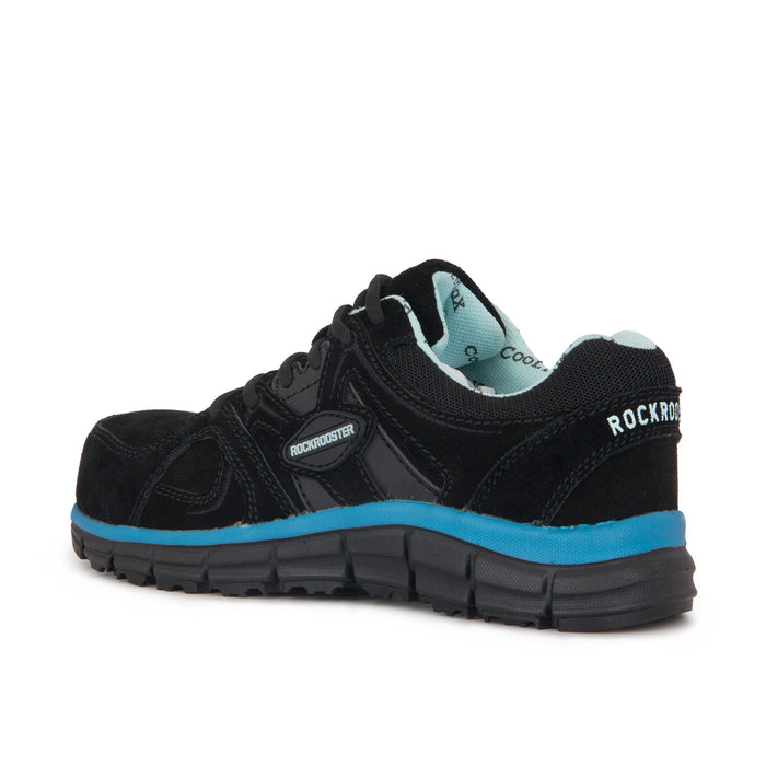 ROCKROOSTER Leather Work shoes, Water Resistant,  Alloy toe, Slip Resistant, ASTM 2413 AS011BL - Rock Rooster Footwear Inc