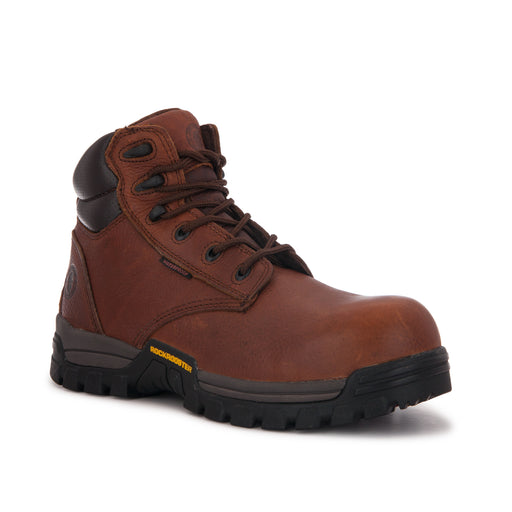 ROCKROOSTER Men's 6 inch Metalfree Work Boots,Composite Toe,Waterproof, Electrical Shock Protection, Anti Puncture, X-Wide (AT-697 PRO Brown,Chester)-1