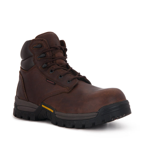 ROCKROOSTER Men's 6 inch Metalfree Work Boots,Comp Toe,Waterproof,Electrical protection, Anti Puncture,X-Wide(AT-697 PRO Dark Brown, Delleker)-1