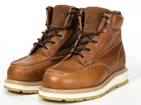 ROCKROOSTER Work Boots Men, Composite Toe, Safety Water Resistant Leather Shoes AP828