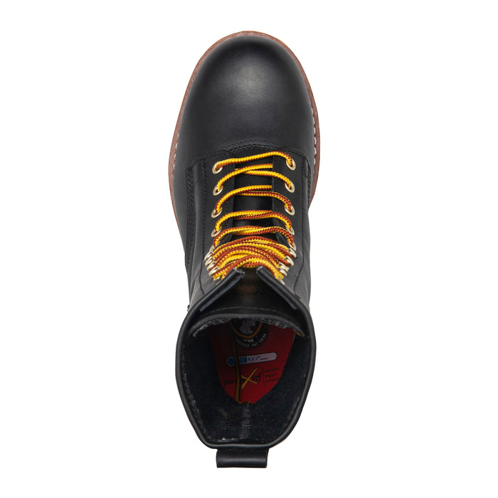 ROCKROOSTER 9 inch Black Leather Work Boots, Steel Toe, Anti-Puncture, ASTM 2413 AP832 - Rock Rooster Footwear Inc