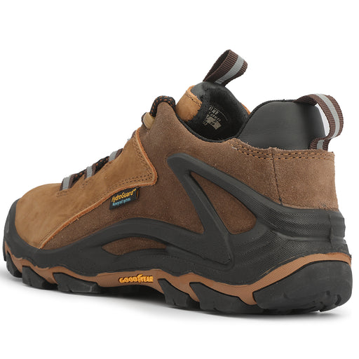 Brown 4 inch men's waterproof hiking shoes KS 252 - Rock Rooster Footwear Inc