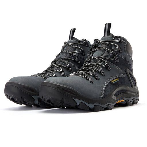 Gray 6 inch men's waterproof hiking boots KS 258 - Rock Rooster Footwear Inc
