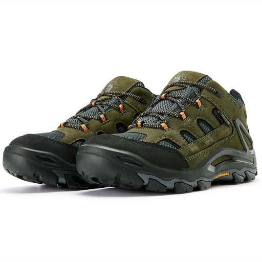 Green 4 Inch Waterproof Hiking Shoes KS 5534 - Rock Rooster Footwear Inc