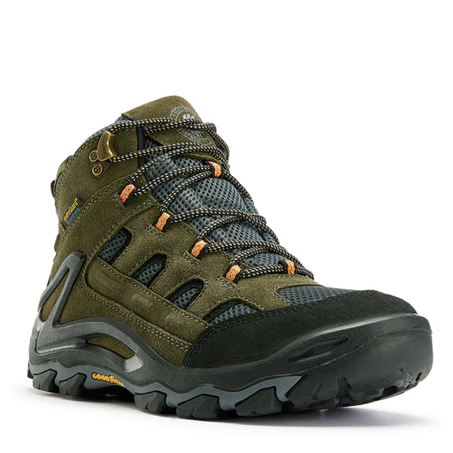 Green 6 inch Waterproof Hiking Shoes KS 5536 - Rock Rooster Footwear Inc