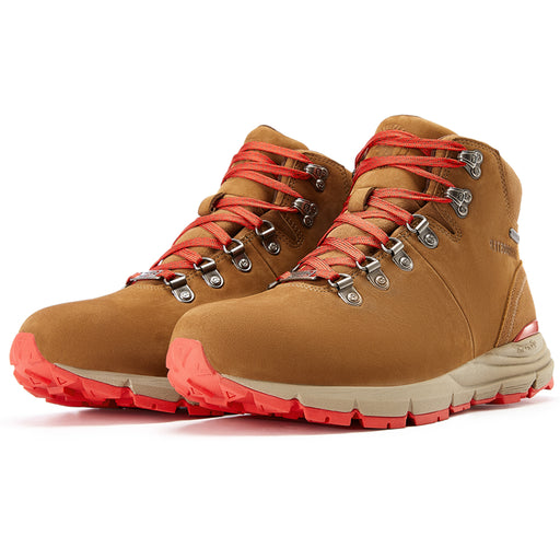 Brown Red 6 inch Nubuck Leather Vibram®Hiking Boots RockRooster VK6251 - Rock Rooster Footwear Inc