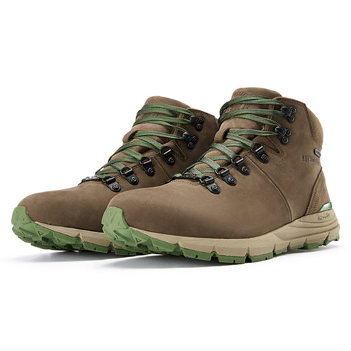 Cafe Green 6 inch Nubuck Leather Vibram®Hiking Boots RockRooster VK6252 - Rock Rooster Footwear Inc