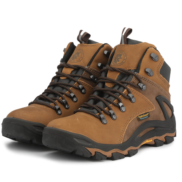 Brown 6 inch men's waterproof hiking shoes KS 257 - Rock Rooster Footwear Inc
