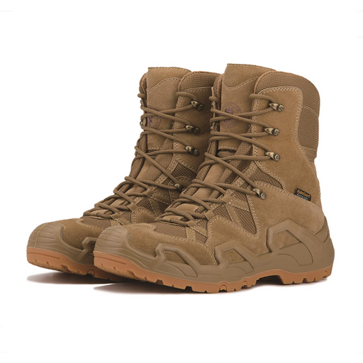 Desert sand 8 inch Waterproof Tactical Outdoor Hiking Boots  KS737 - Rock Rooster Footwear Inc