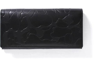 BAPE Solid Abc Leather Long Wallet Wallet Black