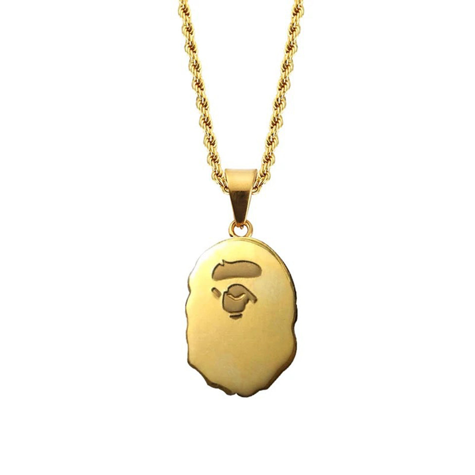 Bathing Ape X Gold HDQ Pendant
