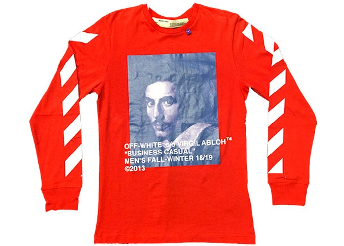 OFF-WHITE Bernini L/S Tee Red