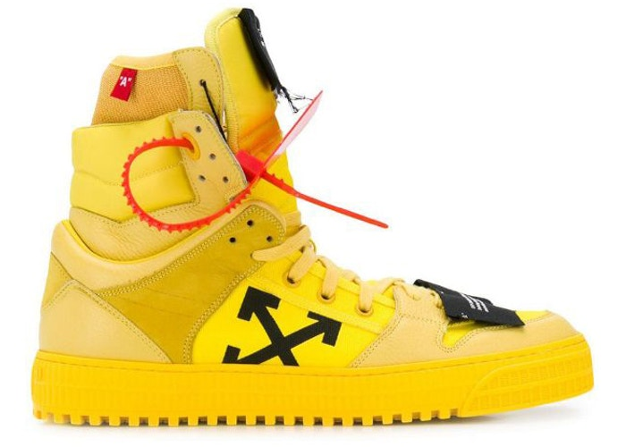 Off-White Off Court High Top Yellow