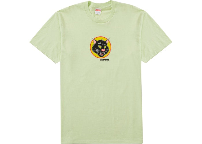 Supreme Black Cat Tee Pale Mint