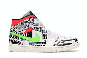 Jordan 1 Mid All Over Logos