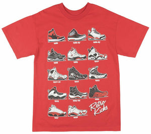 Retro Kicks 1986-1998 Sneakers T-Shirt | Red