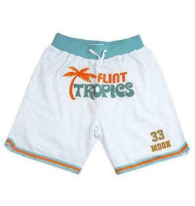 Headgear Flint Tropics Jackie Moon Basketball Shorts White