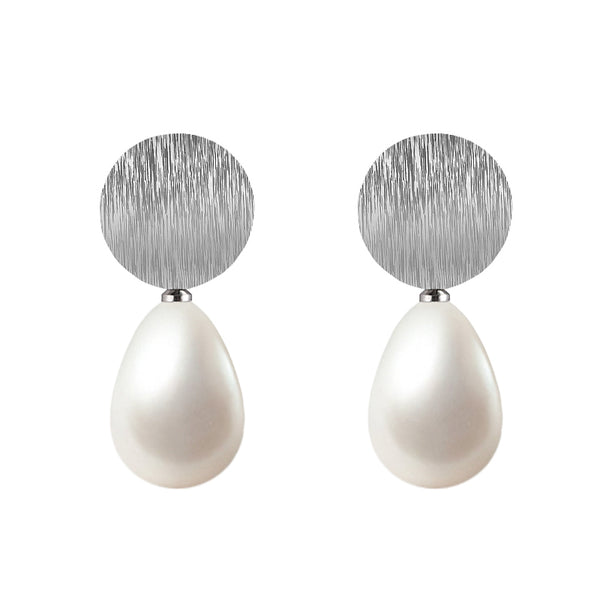 "Ohrring ""round pearl"""