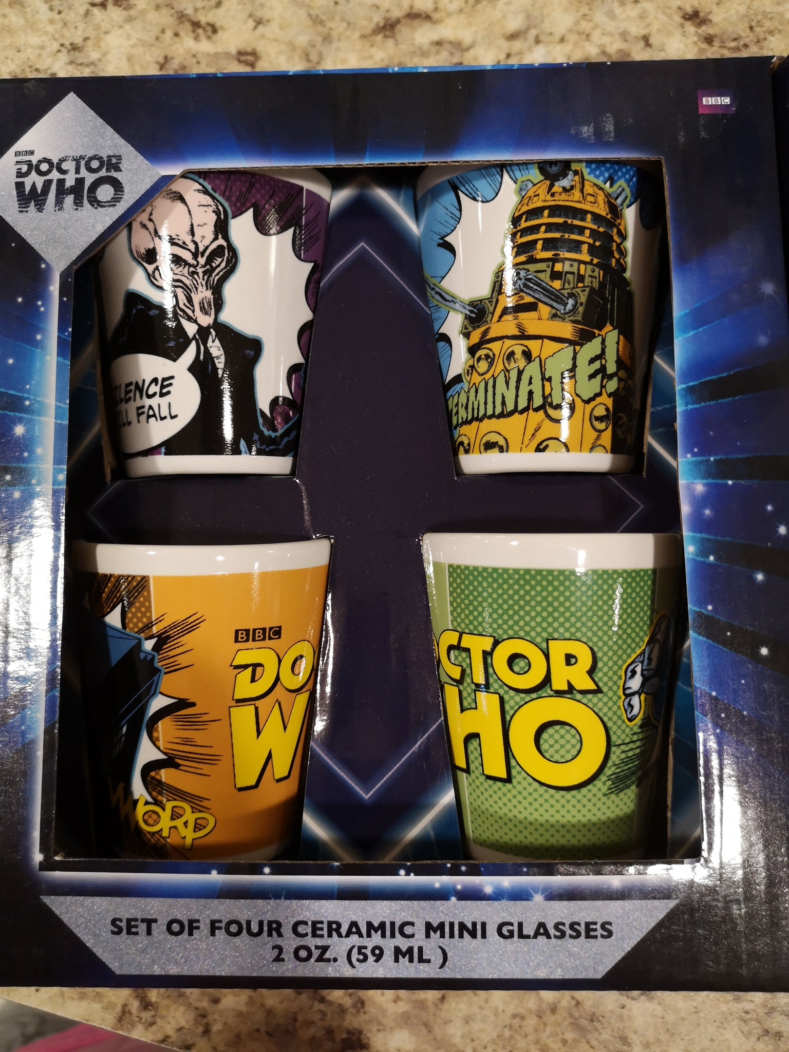 Dr. Who 4-pak Shot Glasses