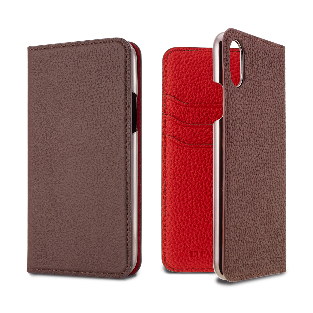 2019 AW - German Shrunken Calf Folio Case for iPhone XS/X