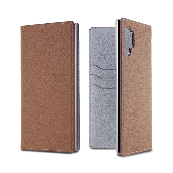 German Shrunken Calf Folio Case for Galaxy Note 10 +