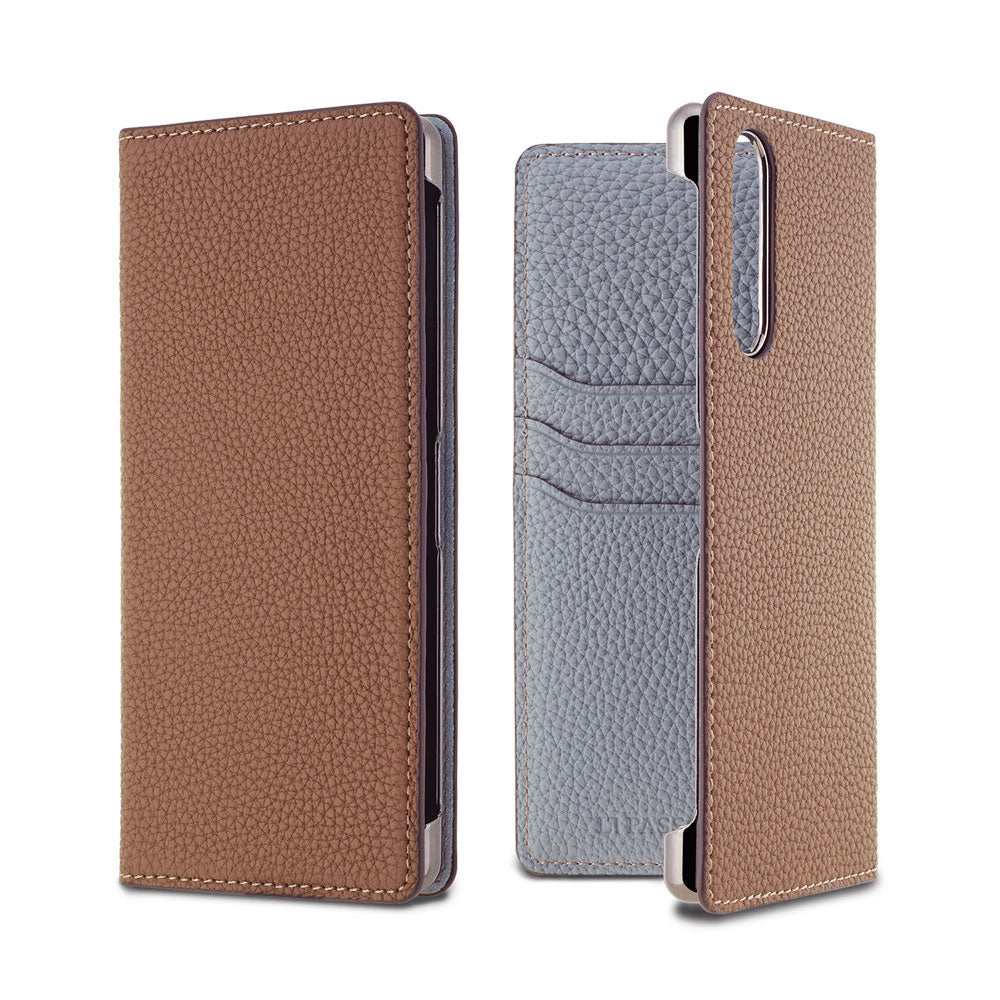 2019 AW - German Shrunken Calf Folio Case for Xperia 5