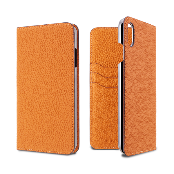 LORNA PASSONI - German Shrunken Calf Folio Case for iPhone XS Max - caseplay