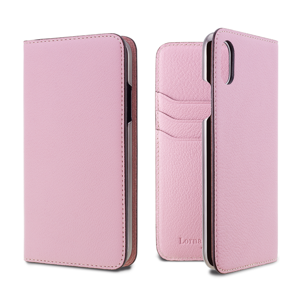 French Chevere Sully Leather Folio Case for iPhone XS/X